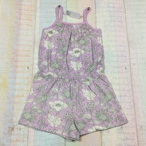 Gap Girls 12 18 M 4T 5T Purple Shorts Romper